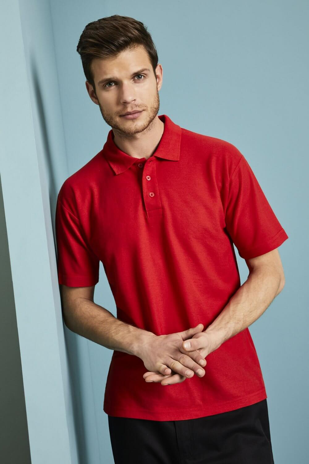 Fruit of the Loom Mens 65//35 Polycotton Easy Care /& Wear Short Sleeve Polo Shirt